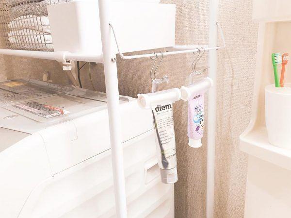 【セリア・ダイソー】グッズで洗面所をすっきり♪真似したい収納アイデア