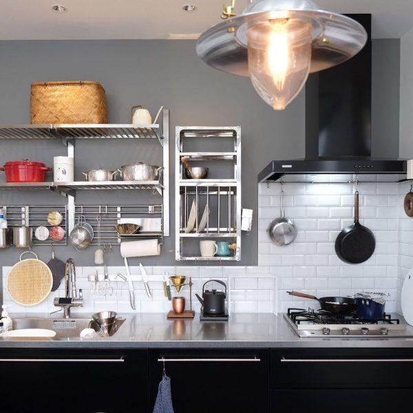厨房のようなオープン収納