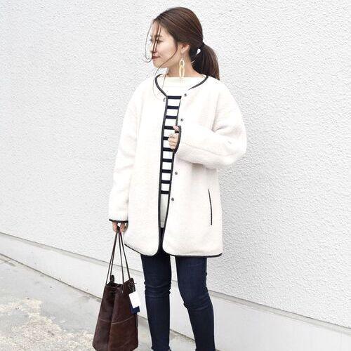 もこもこであったかい☆ボアジャケット&コートの冬コーデ