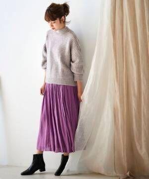 クチュールビンテージギャザーロングスカート