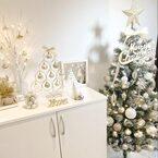雪の降る夜みたい♪《モノトーン》のクリスマスディスプレイが素敵すぎる♡