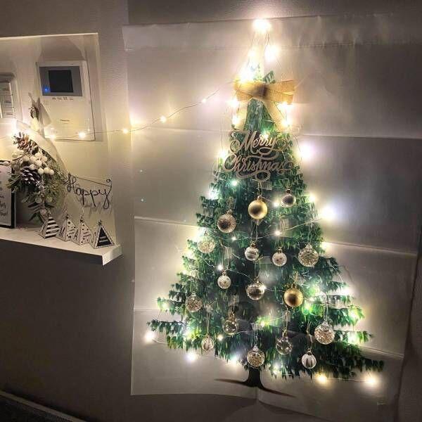 クリスマスディスプレイは《壁面》も活用♪おしゃれすぎるディスプレイアイデア