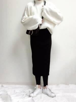 ユニクロリブニットスカート