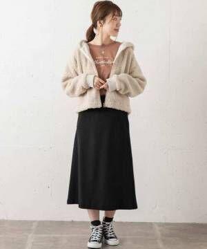[URBAN RESEARCH Sonny Label] 【WEB限定】ビーバーミディスカート