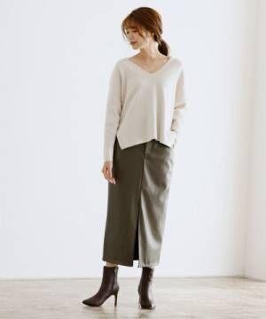 [Pierrot] エコレザータイトスカート
