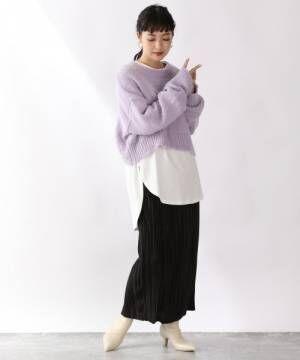 ランダムプリーツタイトスカート920251