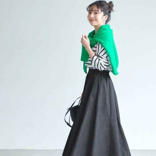 女っぽいスタイルで冬を楽しむ♪30代40代向けの《スカートコーデ》