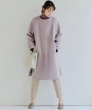 ◆FFC アンゴラビーバー スリット ノーカラー コート