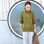 【ユニクロ】のグリーン系コーデ!この冬人気のアイテムをGETしよう♪