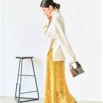 色が主役のスカート特集!トレンドアイテムでポイントカラーコーデ