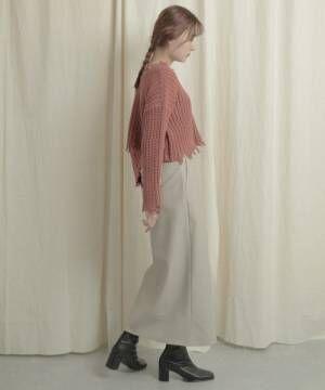 【WEB/一部店舗限定】2WAYダメージショートセーター