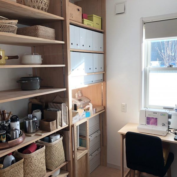 明るく気持ちの良いパントリー兼家事室