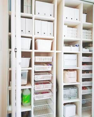 収納アイテムはカラーを揃えて統一感を演出