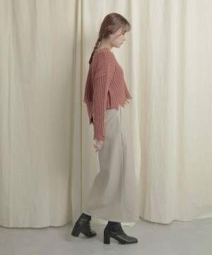 【WEB/一部店舗限定】エコレザータイトスカート