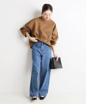LE DENIM バギーパンツ【洗濯機使用可能】◆
