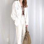 【GUetc.】気兼ねなく使える。40代にもオススメな春めくホワイトパンツ