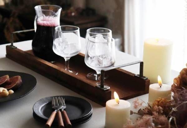 テーブルを華やかに演出!おしゃれな木製トレイ2