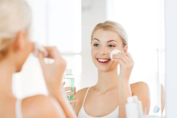 スキンケアは収れん化粧水を使用