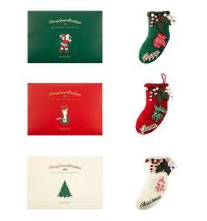 2018 グリーンクリスマス DIY クリスマス ソックス キット(3種)