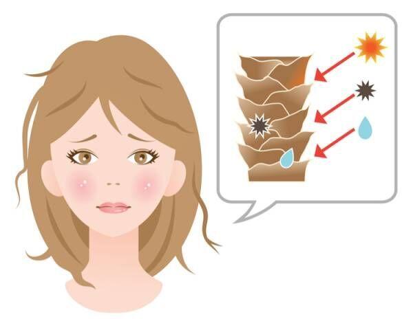 紫外線から髪の毛を守る