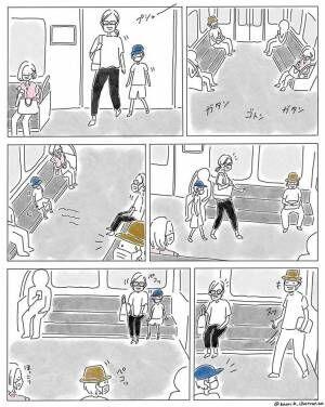 電車内での光景に心温まる! 気遣いのできる男の子を見た、ある男性が?
