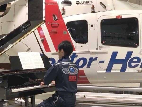 『看護の日』にピアノを演奏する救急医 その意味に、泣ける…