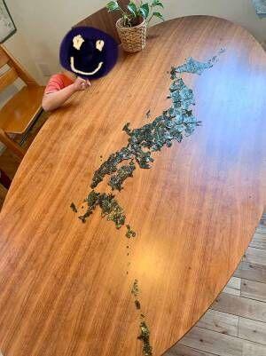 海苔で日本地図!「都道府県名言いながら食べてね」と言ったのにあっという間に完食