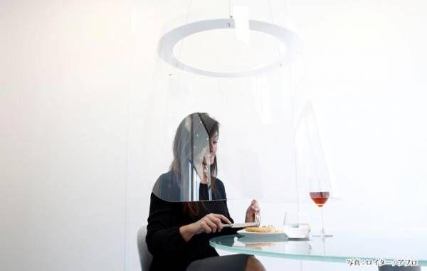 未来のレストランはこうなる? フランス人デザイナーが考えた感染防止グッズ