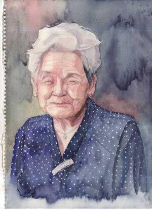 高校生が描いた『祖母の笑顔』に26万人が感動 「絵で初めて泣いた」「いいおばあちゃん」