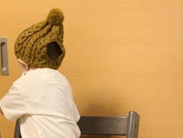 1歳娘が被る『ニット帽』に違和感を覚えた母親 その正体に4万人がクスッ!