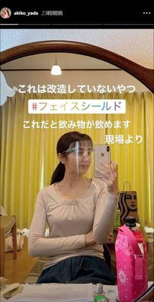 矢田亜希子、自作のフェイスシールドを公開 「売りものじゃん…」クオリティの高さに驚き!