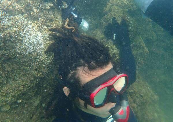 ドレッドヘアを海藻と勘違い!? 海の中で起きた『奇跡』に5万人が抱腹絶倒