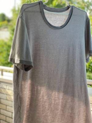 洗濯物を干している時に夫の服のタグを見ると…? 6万人が爆笑!