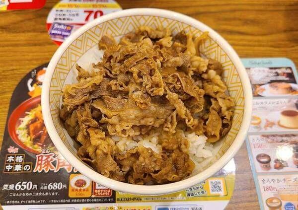 すき家の裏メニュー『キングサイズ』の牛丼にチャレンジその量とカロリーに驚愕!