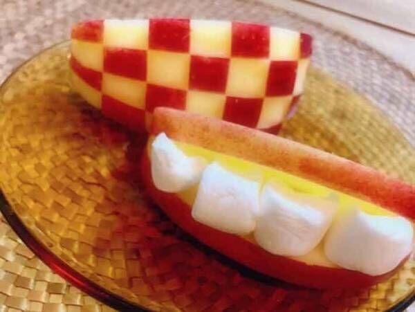 皮まで食べたい!リンゴのおもしろ飾り切りを紹介