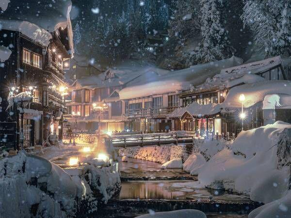 「幻想的な街並み」「絵画かと思った」 山形県の温泉街で撮られた写真に反響