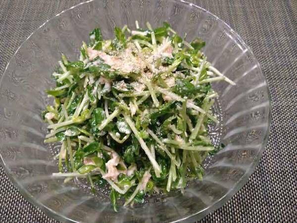まぜまぜするだけで簡単に作れて食物繊維もしっかり採れる 豆苗の無限レシピはこちら!