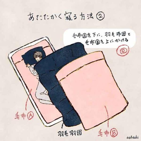冷え性の方必見!ポカポカあったかく眠る方法!