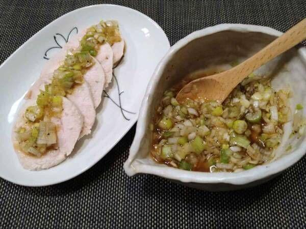 見た目よし タンパク質もタップリ摂れる 鶏むね肉のネギソースを作ってみました!