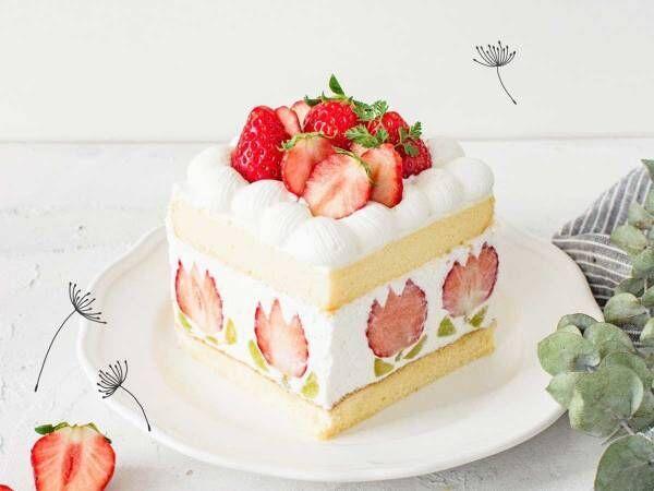 かわいすぎる!ケーキの中にいちごのチューリップ!