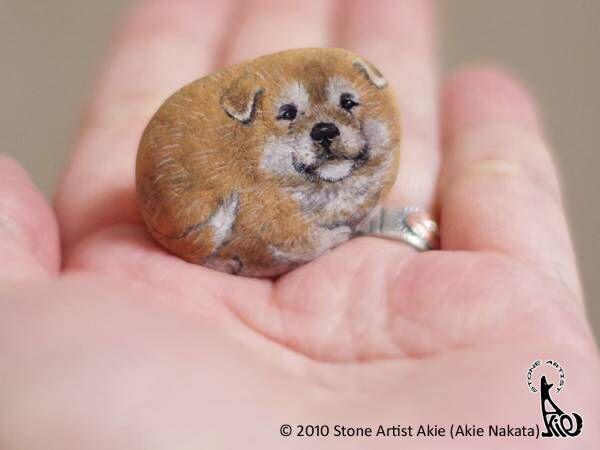 手のひらサイズの柴犬に、ため息が止まらない… 描かれたのは?