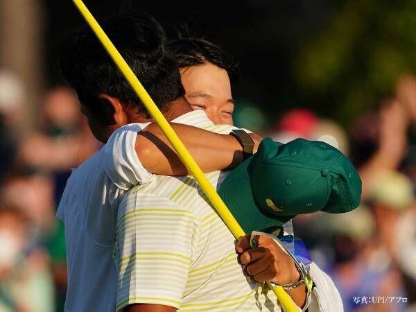 松山選手のキャディが帽子を取り? その後の行動に「尊敬に値する」の声