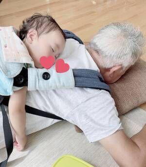 「最高の1枚」「かわいい」 孫を起こさないため、おじいさんがとった行動