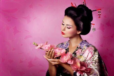 22612884 - portrait of a japanese geisha woman
