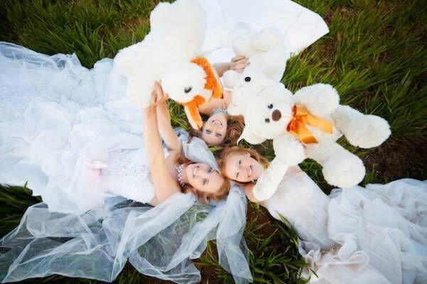 婚活, 友達, 結婚, ドレス,