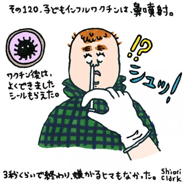 子どもインフルワクチンは鼻噴射。【クラーク志織のロンドン子育てDiary】