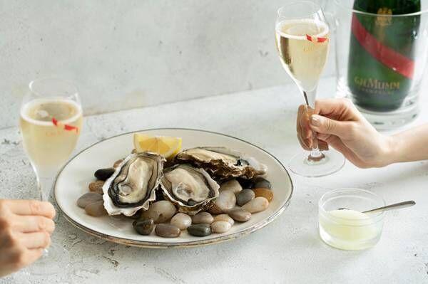 〈ゼネラル・オイスター〉24店舗で「牡蠣シャン」がスタート。