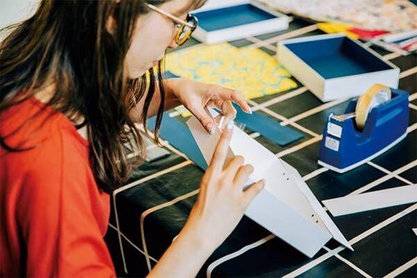二子玉川にある紙箱専門店〈BOX & NEEDLE〉で、オリジナルペーパートランク作りに挑戦!
