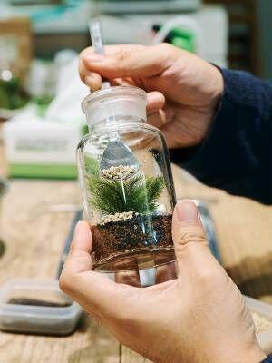 """""""苔テラリウム""""に癒される人続出。〈Feel The Garden〉のワークショップが人気を集めている!"""