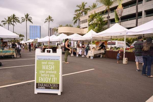 ハワイの最新ファーマーズマーケット!カカアコのナイトマーケット〈Kakaako Sunset Market〉へ。
